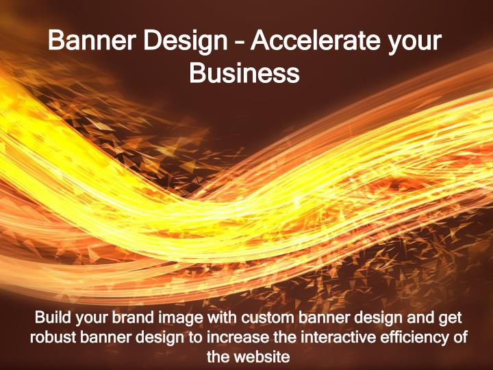 banner design accelerate your business n.