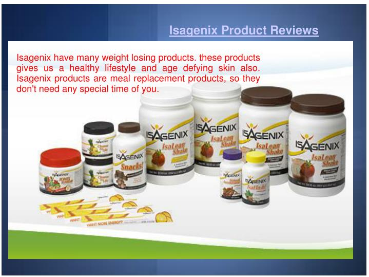 Isagenix Product Reviews