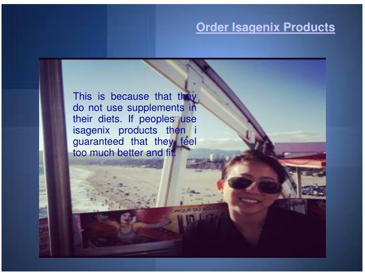 Order Isagenix Products