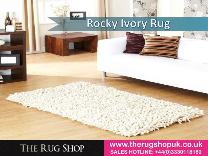Rocky Ivory Rug