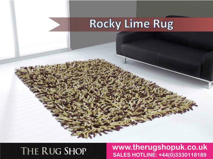 Rocky Lime Rug