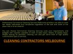 cleaning contractors melbourne