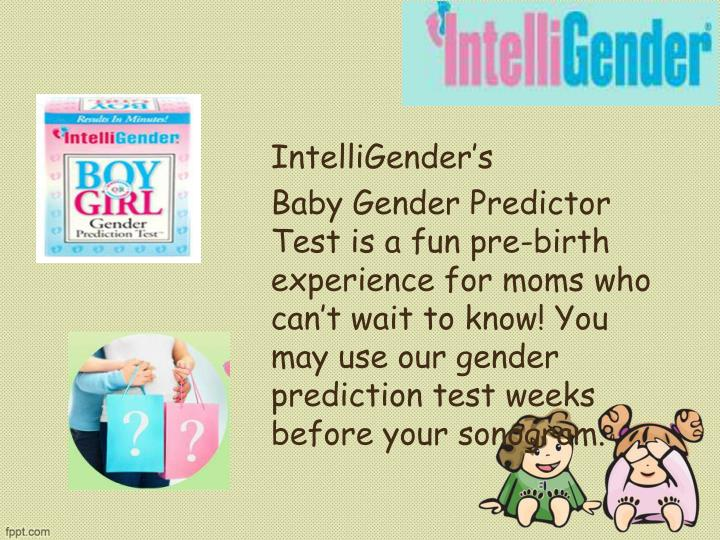 Ppt How Intelligenders Gender Prediction Test Helps You To Fin