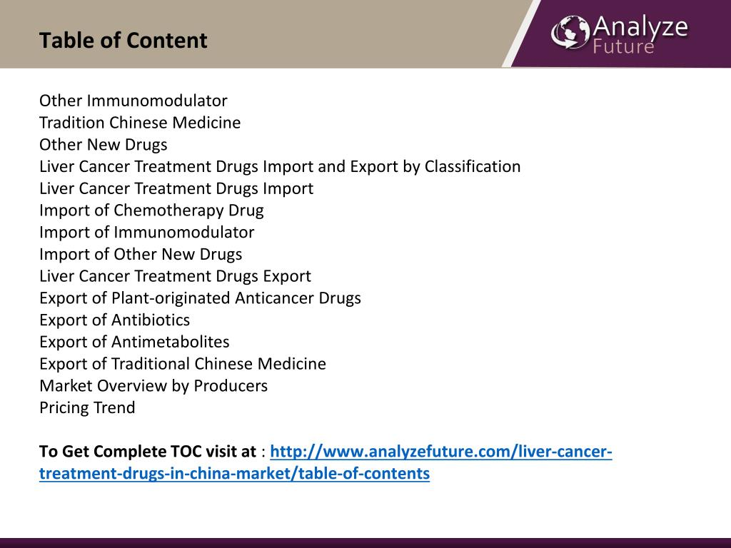 PPT - Liver Cancer Treatment Drugs Markets Analysis, Share