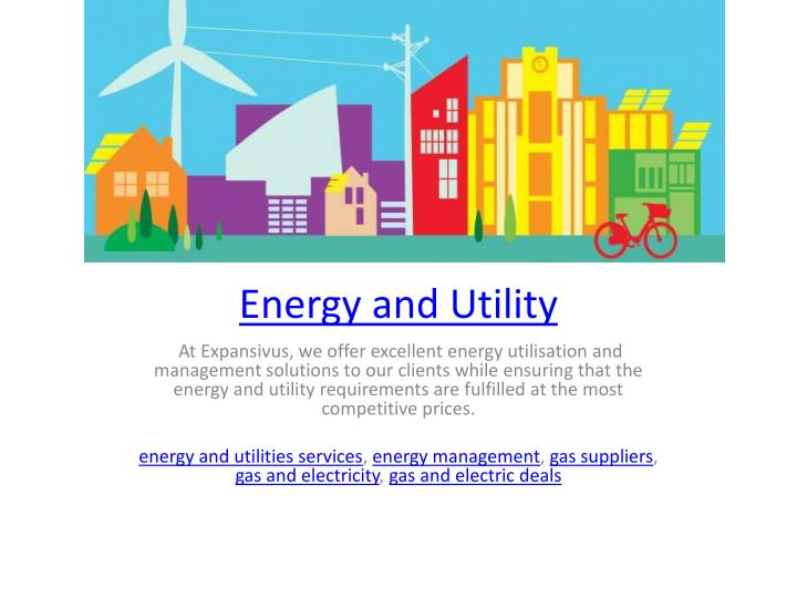 energy and utility n.