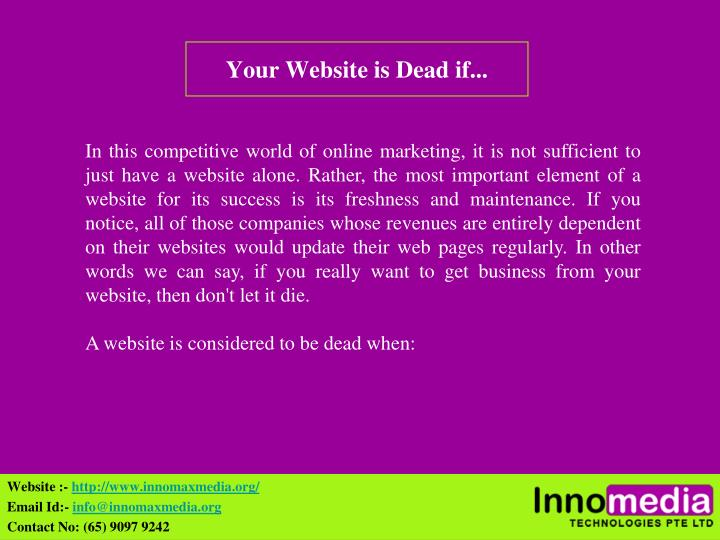 your website is dead if n.