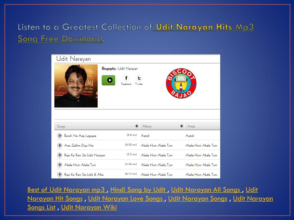 PPT - Hits Songs of Udit Narayan PowerPoint Presentation - ID:7116921