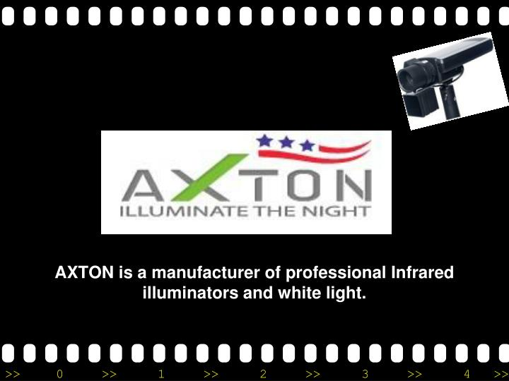 axton is a manufacturer of professional infrared illuminators and white light n.