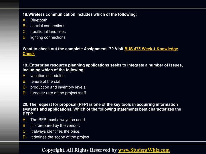 18.Wireless communication includes which of the following