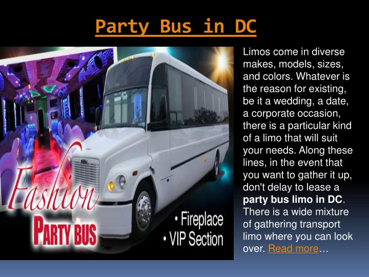 party bus in dc n.