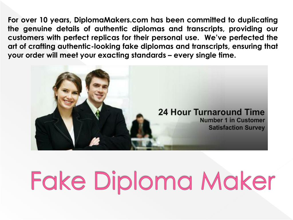 PPT - How to Make a Fake Diploma PowerPoint Presentation - ID:7117210