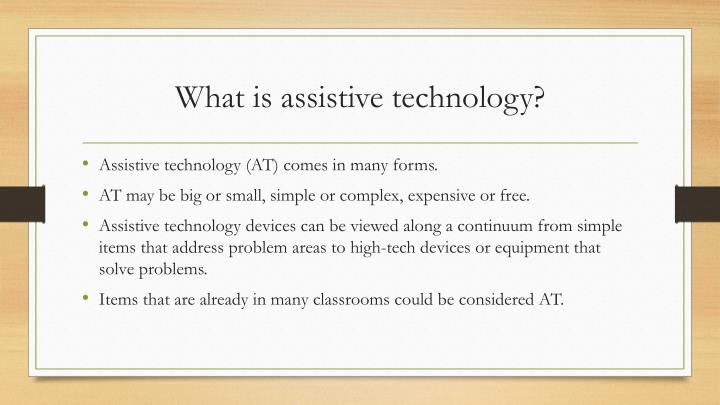 What is assistive technology1