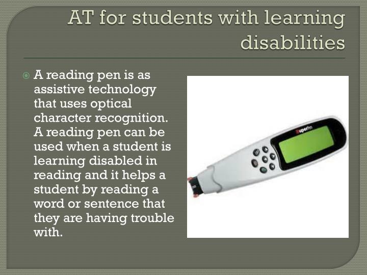 AT for students with learning disabilities