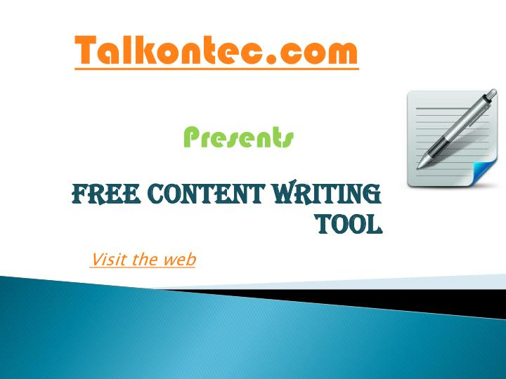 free content writing tool n.