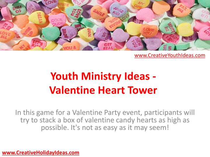 youth ministry ideas valentine heart tower n.