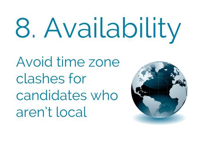 8. Availability