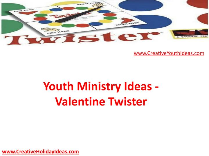 Youth ministry ideas valentine twister