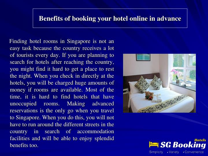benefits of booking your hotel online in advance n.