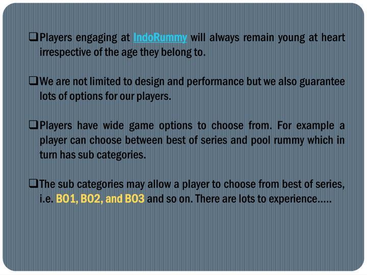 Players engaging at