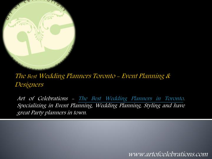 the best wedding planners toronto event planning designers n.