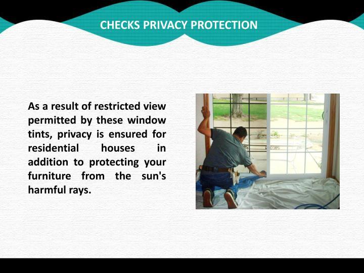 CHECKS PRIVACY PROTECTION