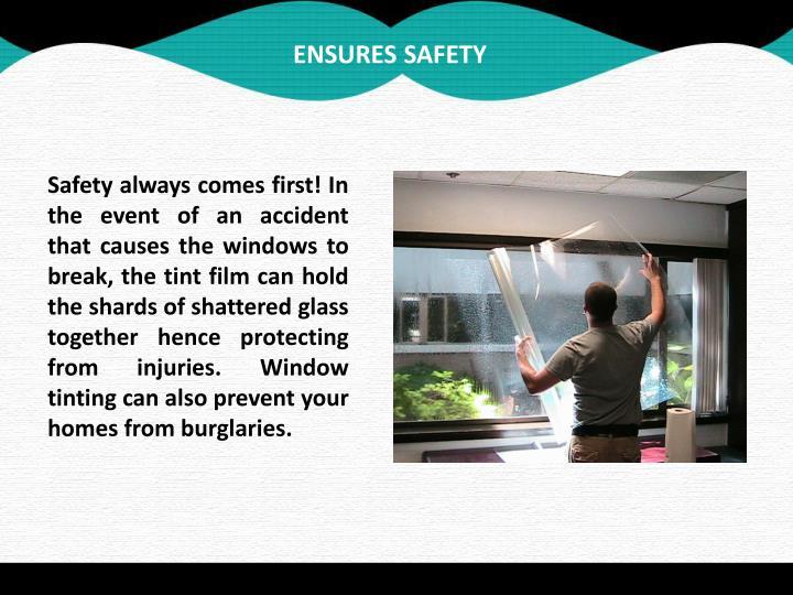 Ensures safety