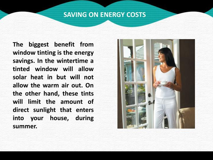SAVING ON ENERGY COSTS