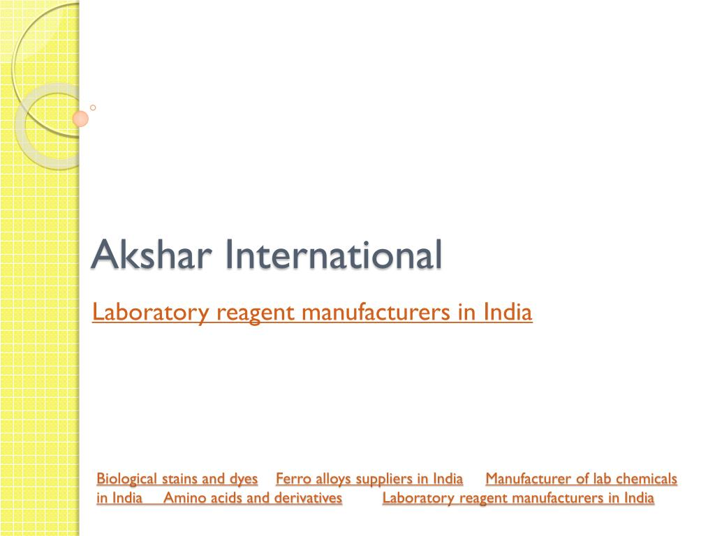 PPT - lab chemical suppliers in India PowerPoint Presentation - ID