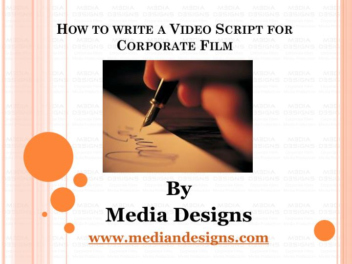 How to write a video script for corporate film
