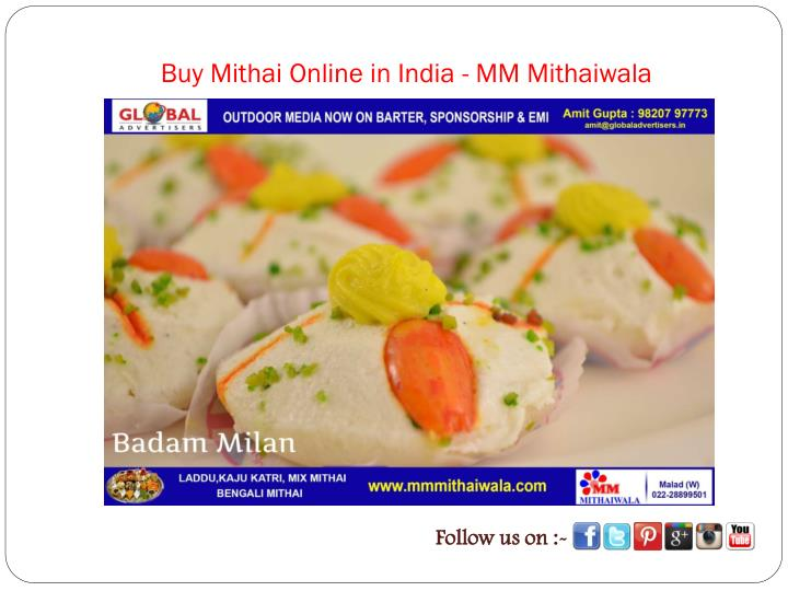 Buy mithai online in india mm mithaiwala