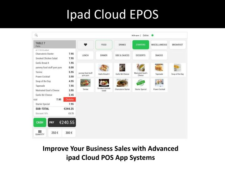 Ipad cloud epos