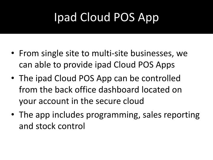 Ipad cloud pos app