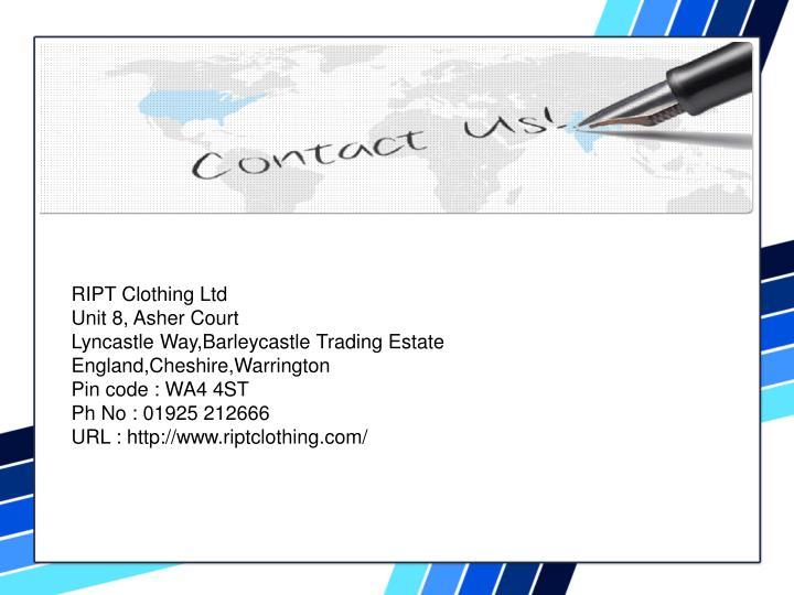 RIPT Clothing Ltd