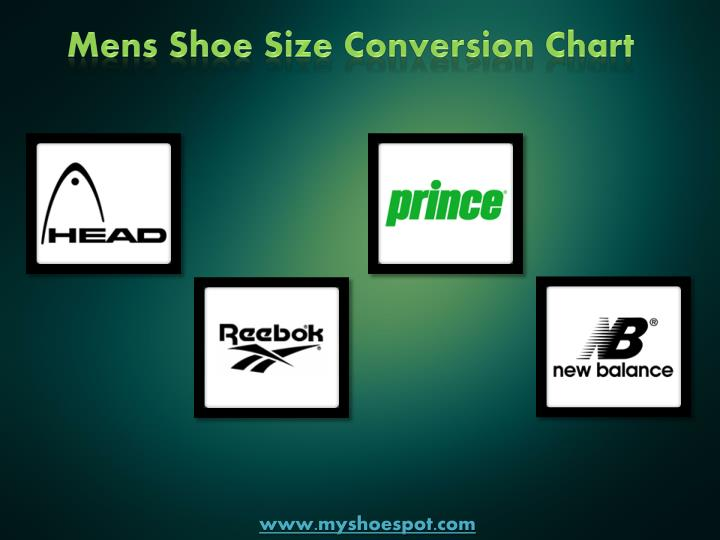 Mens Shoe Size Conversion Chart