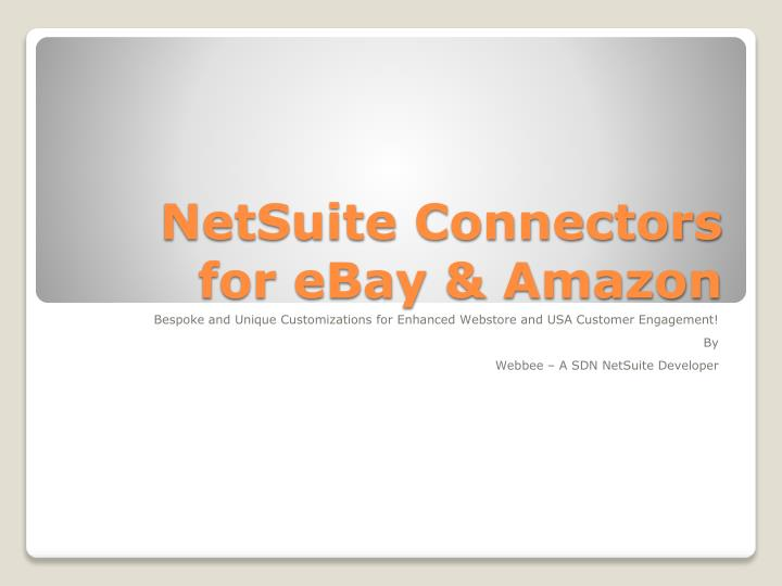 netsuite connectors for ebay amazon n.