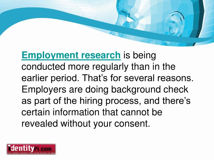 Employment research
