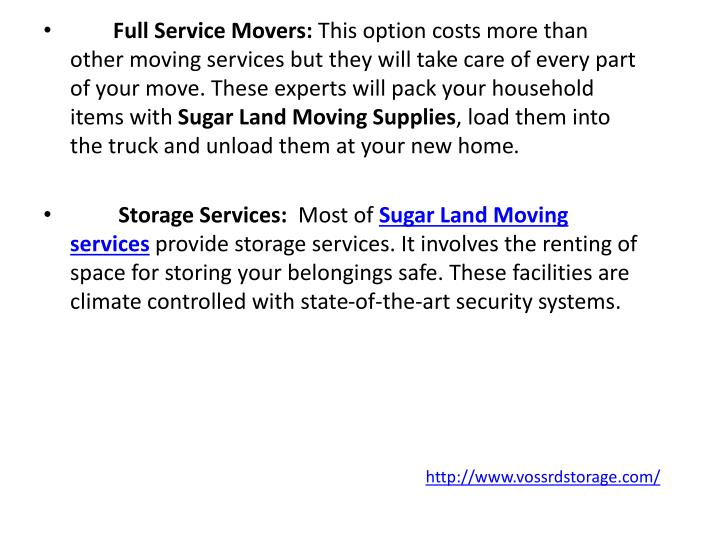 Full Service Movers:
