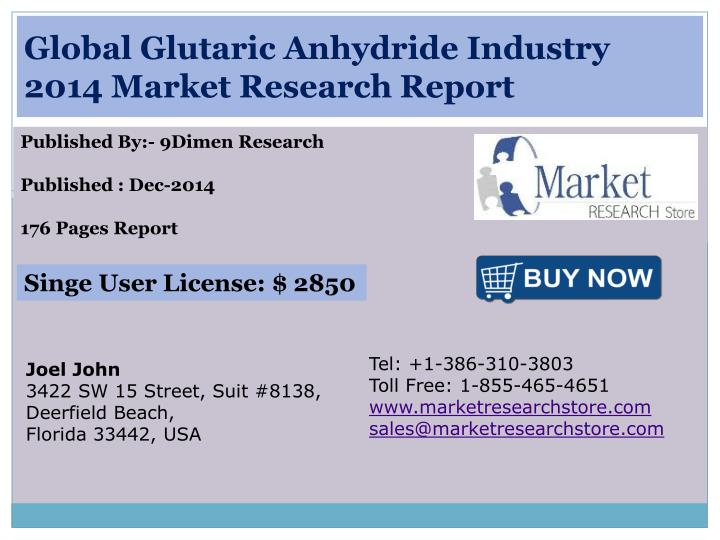 Global glutaric anhydride industry 2014 market research report