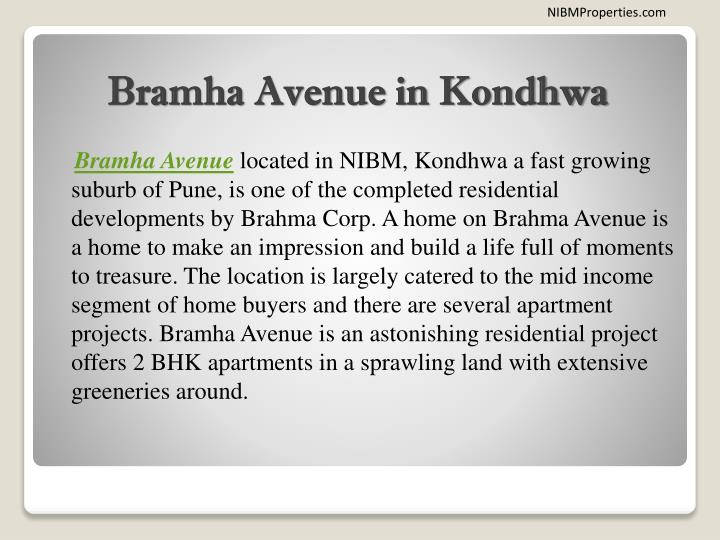 Bramha avenue in kondhwa