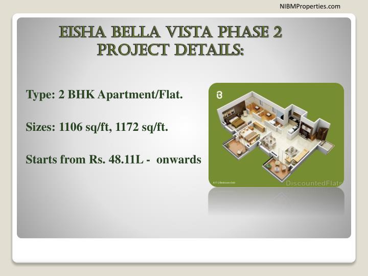 Eisha bella vista phase 2 project details