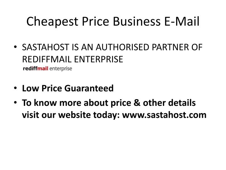 Cheapest Price Business E-Mail