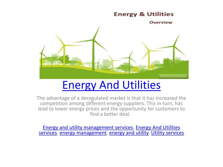 energy and utilities n.
