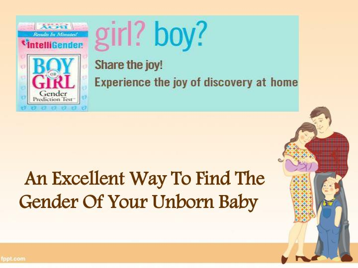 Ways to find out sex of baby