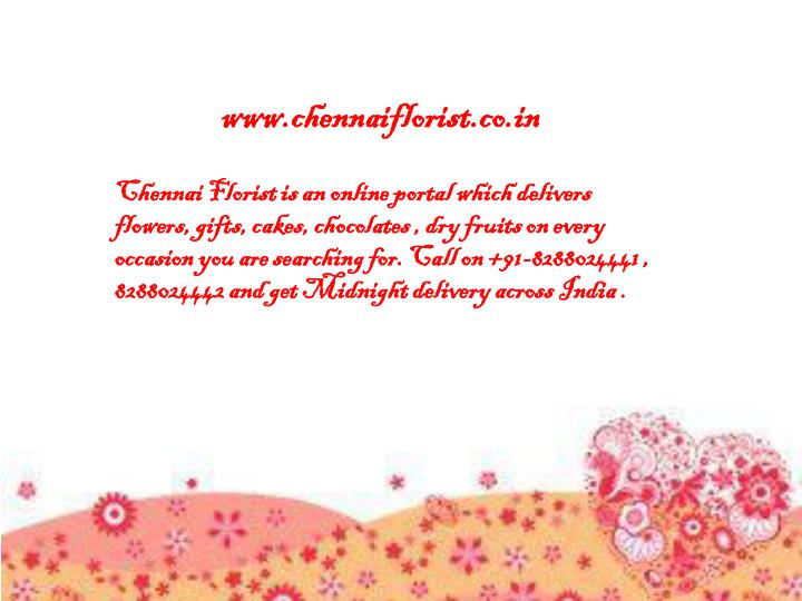 www chennaiflorist co in n.