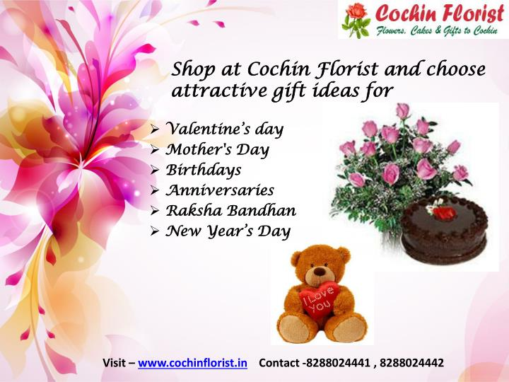 shop at cochin florist and choose attractive gift ideas for n.