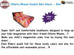 chhota bheem double bed sheet red