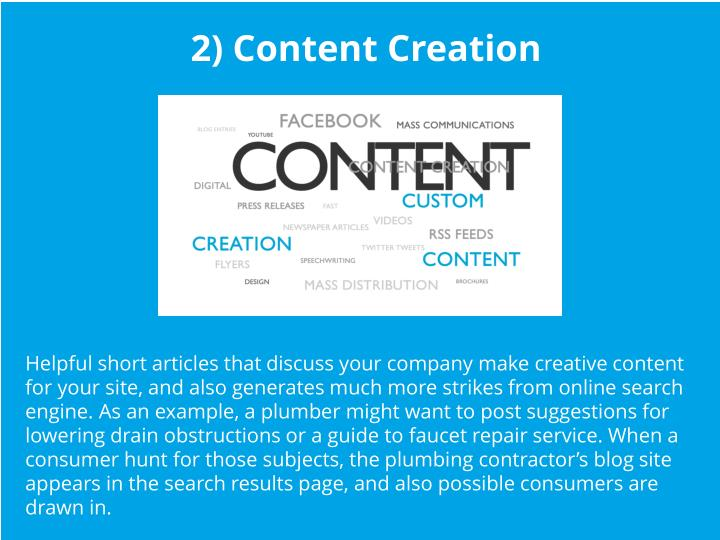 2) Content Creation