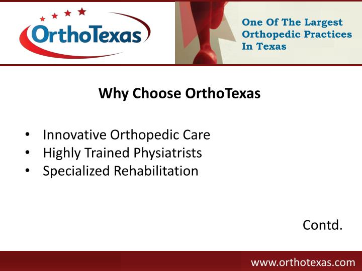 One Of The Largest Orthopedic Practices