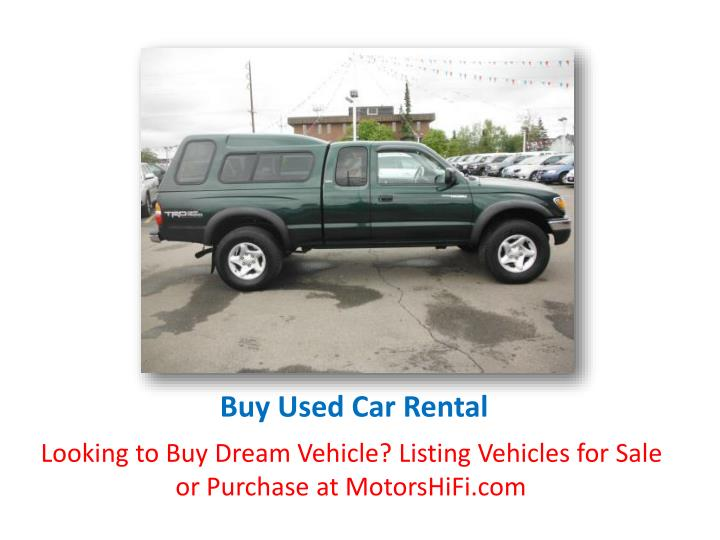 Buy Used Car Rental