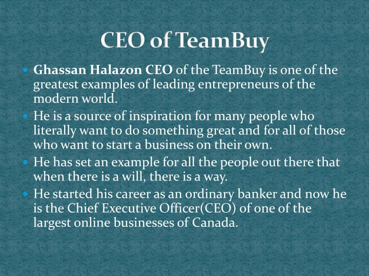 Ceo of teambuy